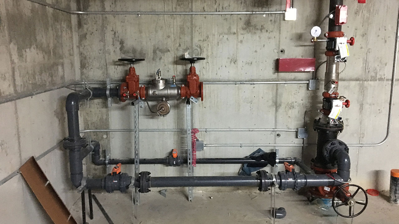 Commercial piping by Star Mechanical Edmonton