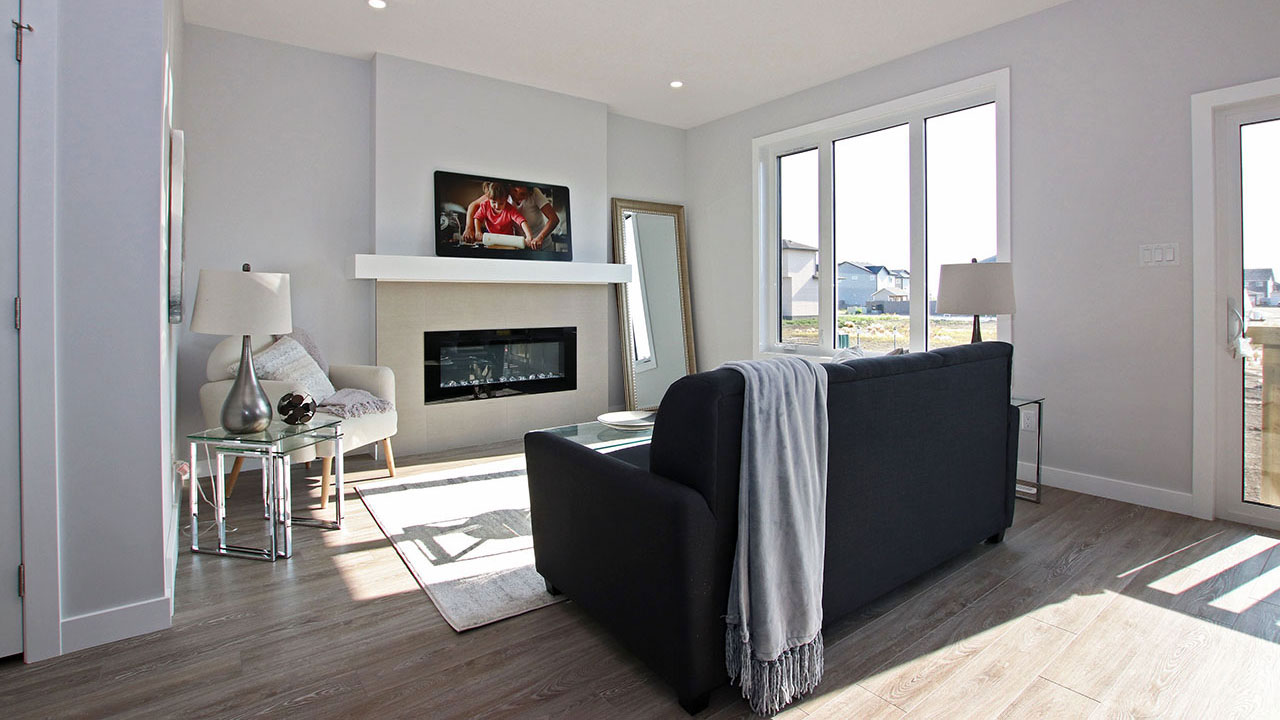 Fireplace in living room  - Pacesetter Homes Regina
