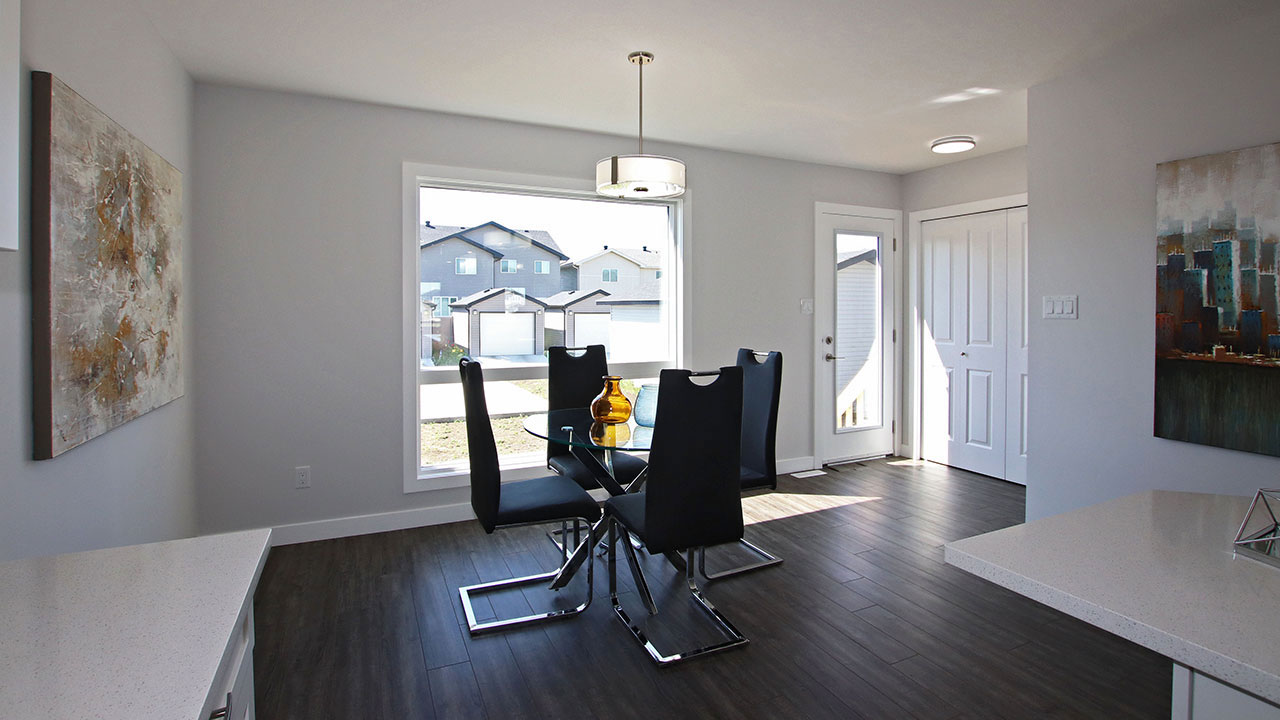 A dining room in a Pacesetter home in Regina.