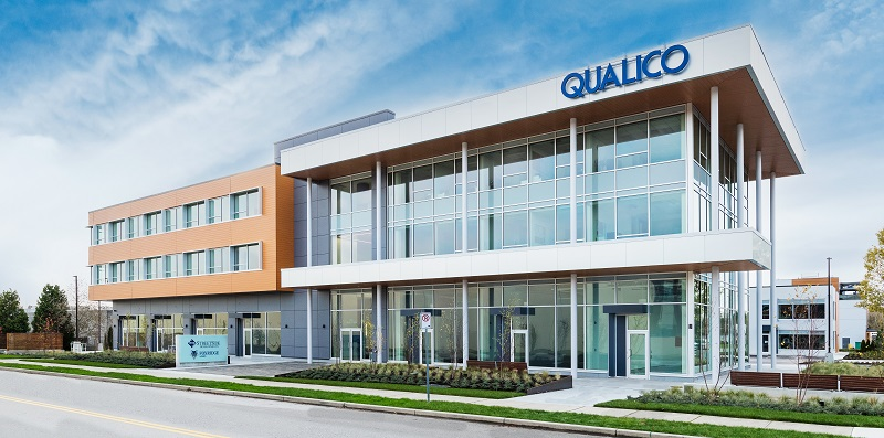 Street view of the new Qualico regional office in Surrey, BC