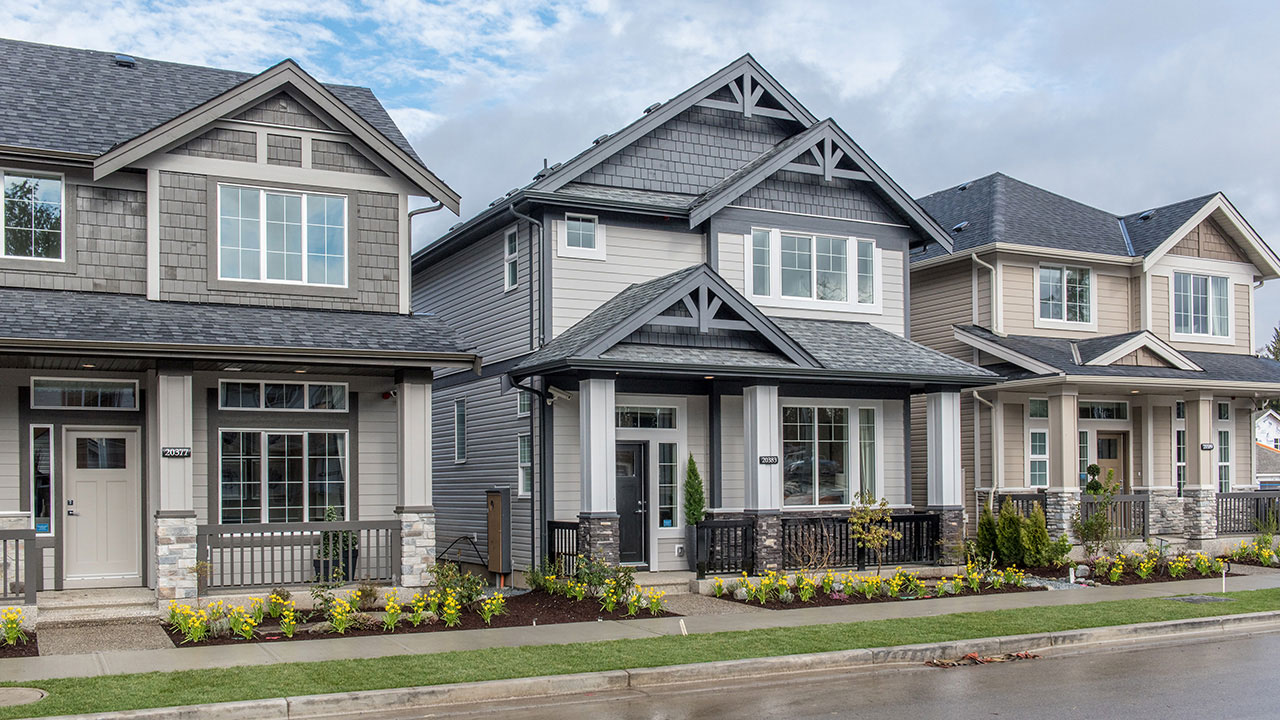 Homes in a Qualico community in Metro Vancouver
