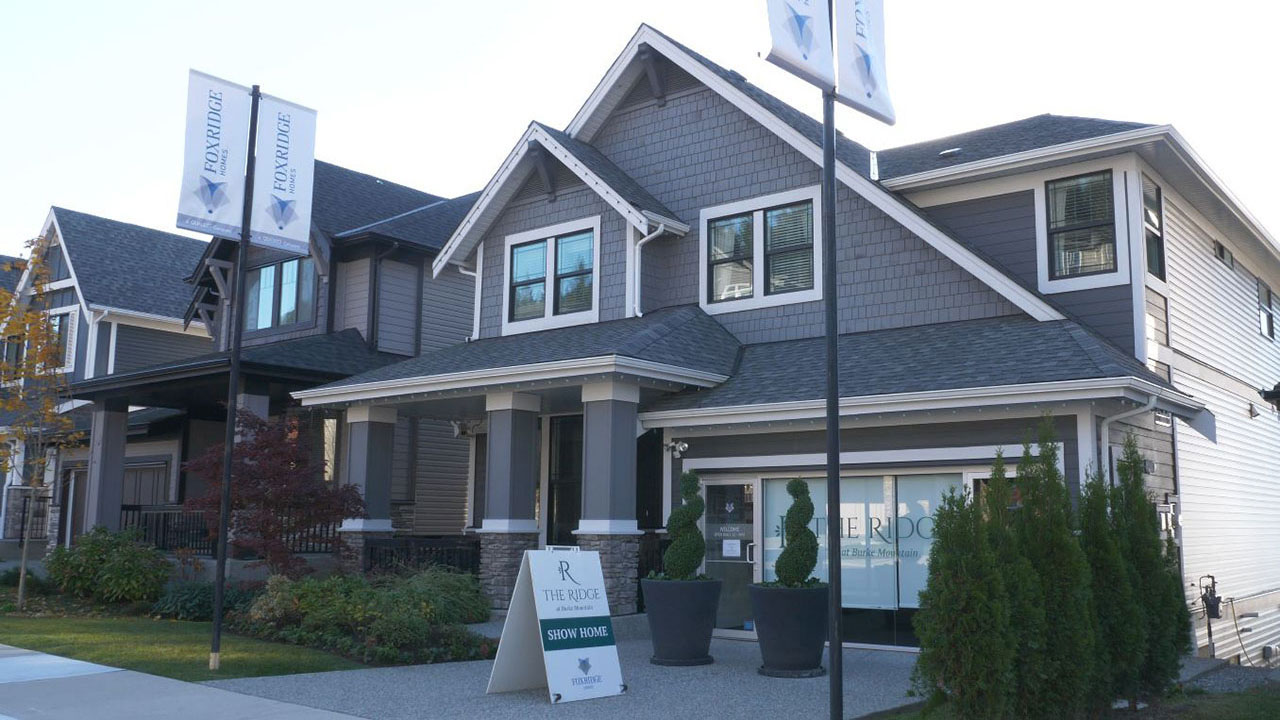 Exterior of a Foxrisge showhome in The Ridge