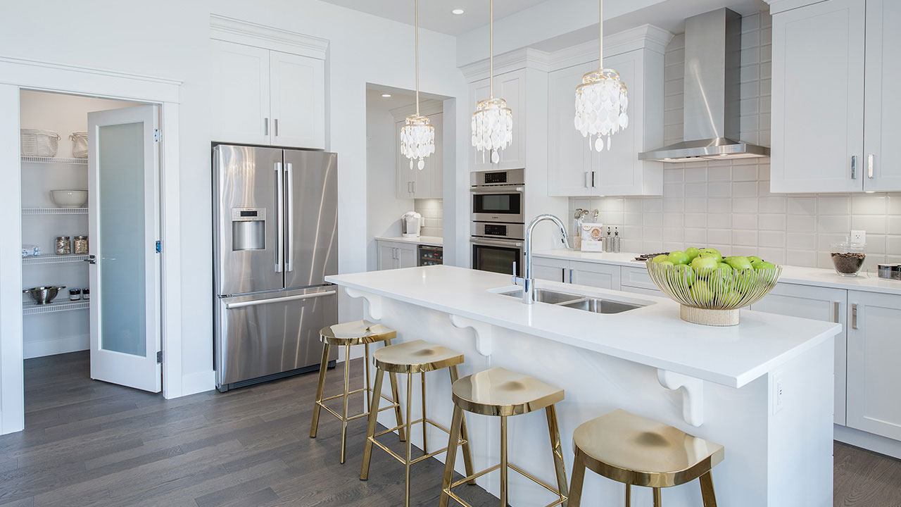 Kitchen in the showhome in Parkview Estates