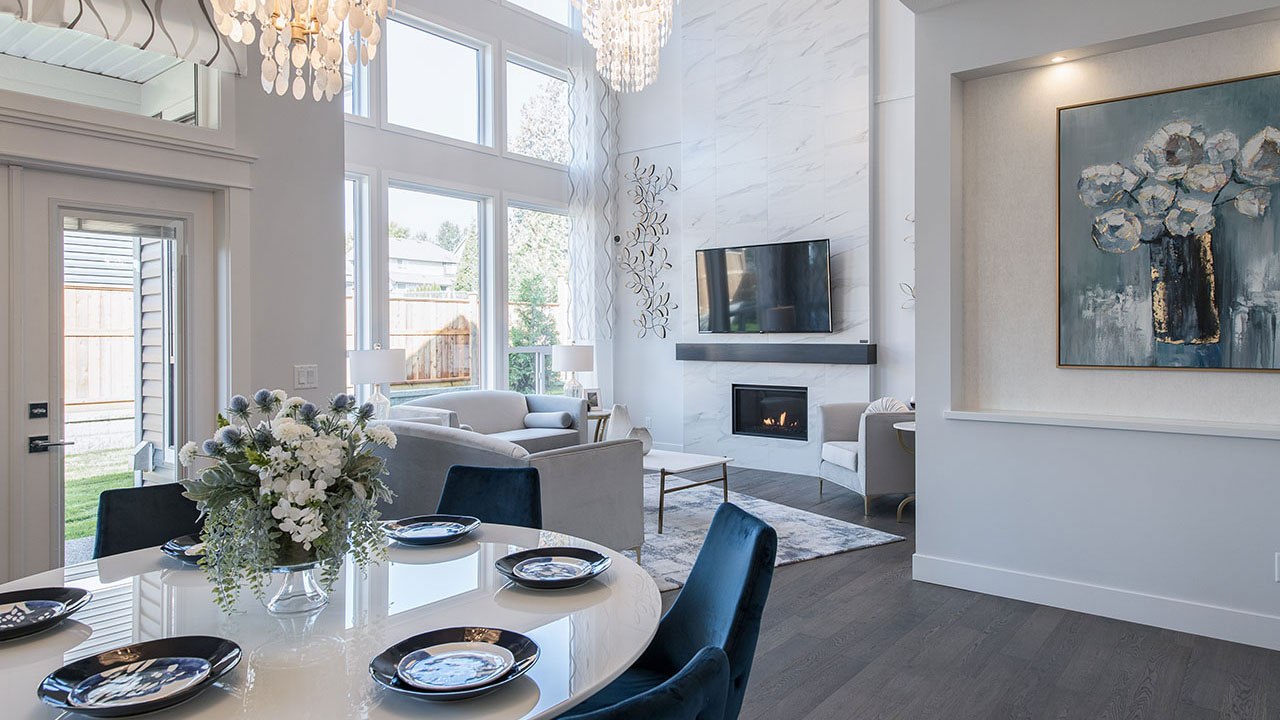 Dining room of the showhome in Parkview Estates