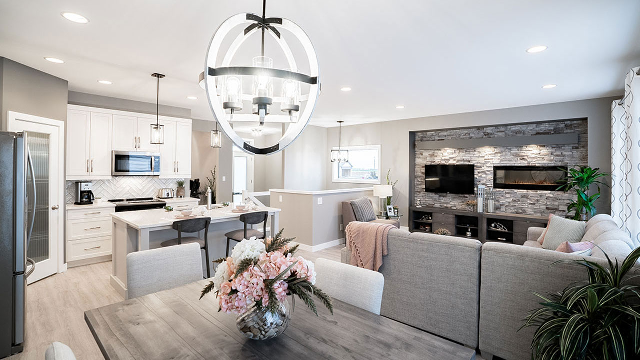 Open concept design by Broadview Homes Winnipeg