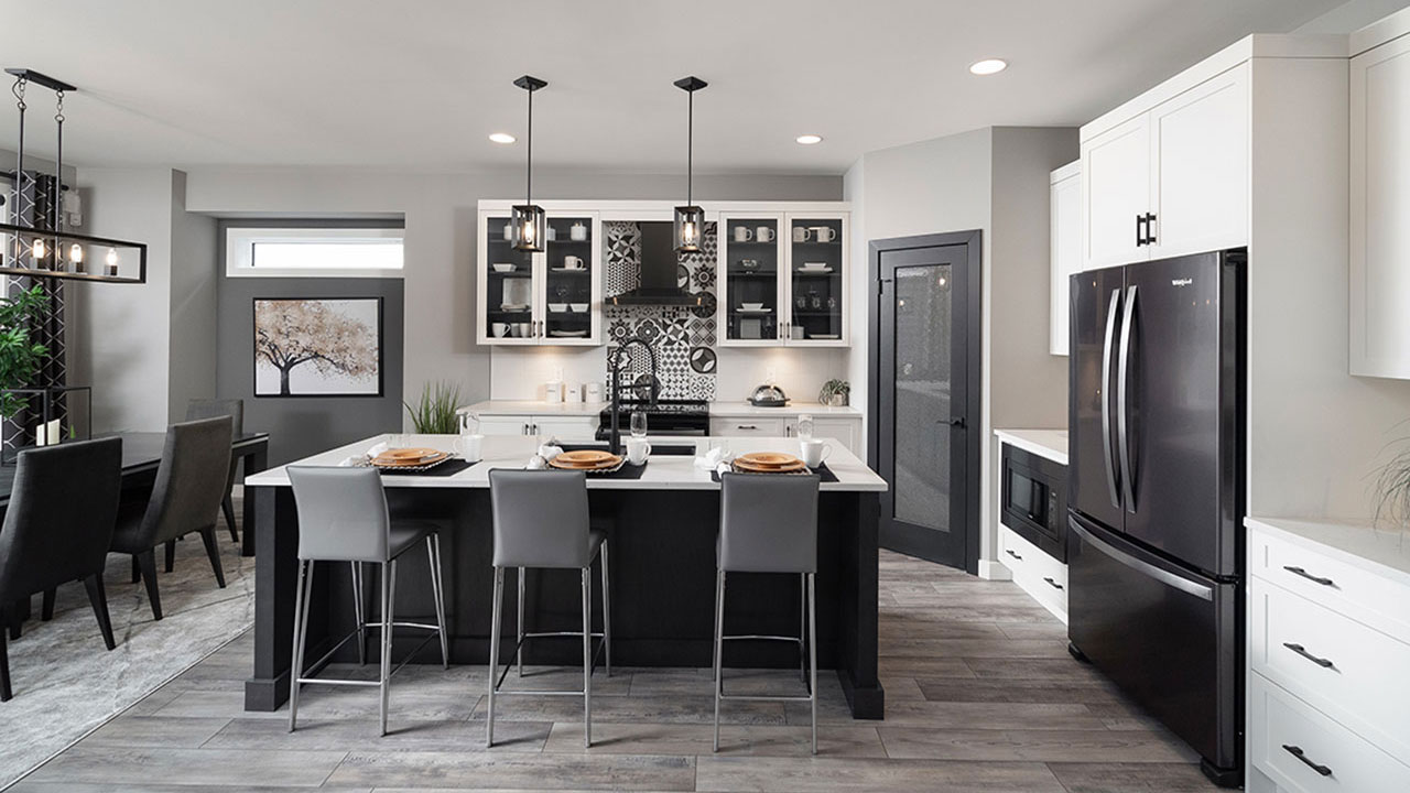 Trendy kitchen Skyline Drive - Broadview Homes Winnipeg