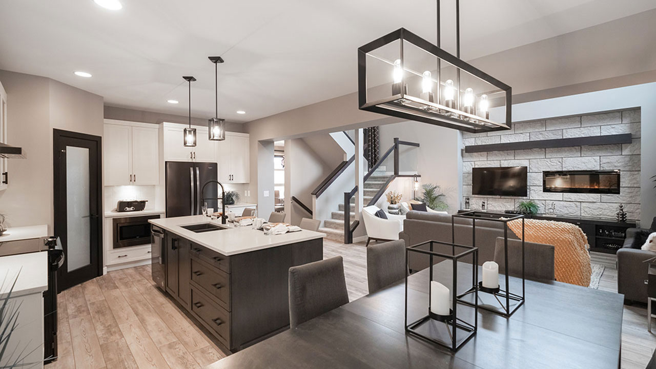 Broadview Homes Winnipeg - Kitchen & Living Room