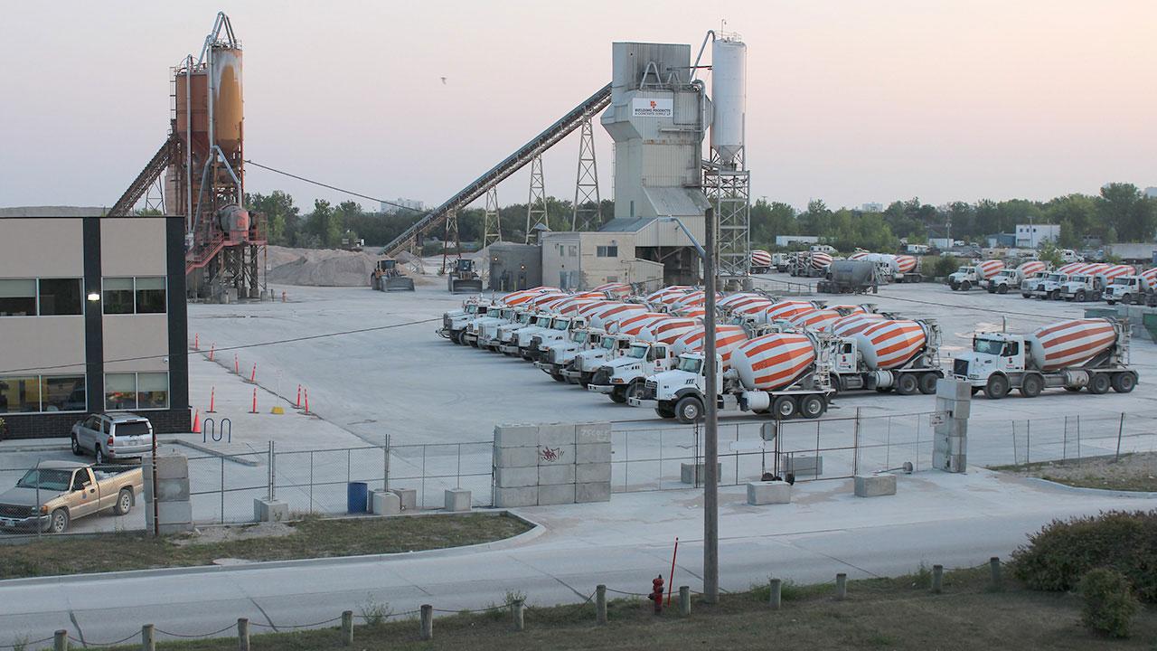 Building Products fleet on the yard in Winnipeg.