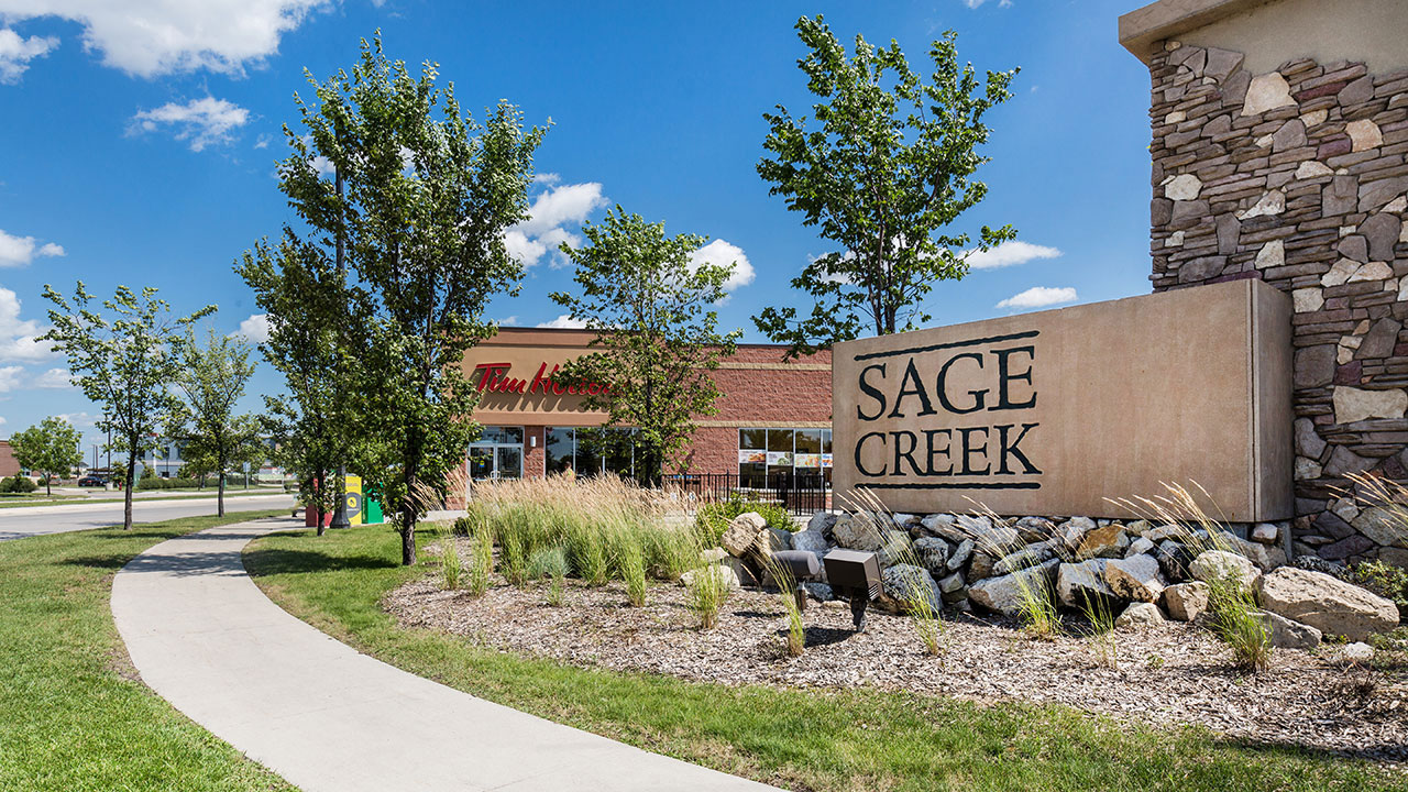 Neighbourhood shopping centre of Sage Creek is southeast Winnipeg.