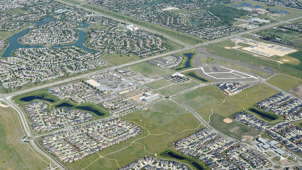 Aerial image of Sage Creek in Winnipeg