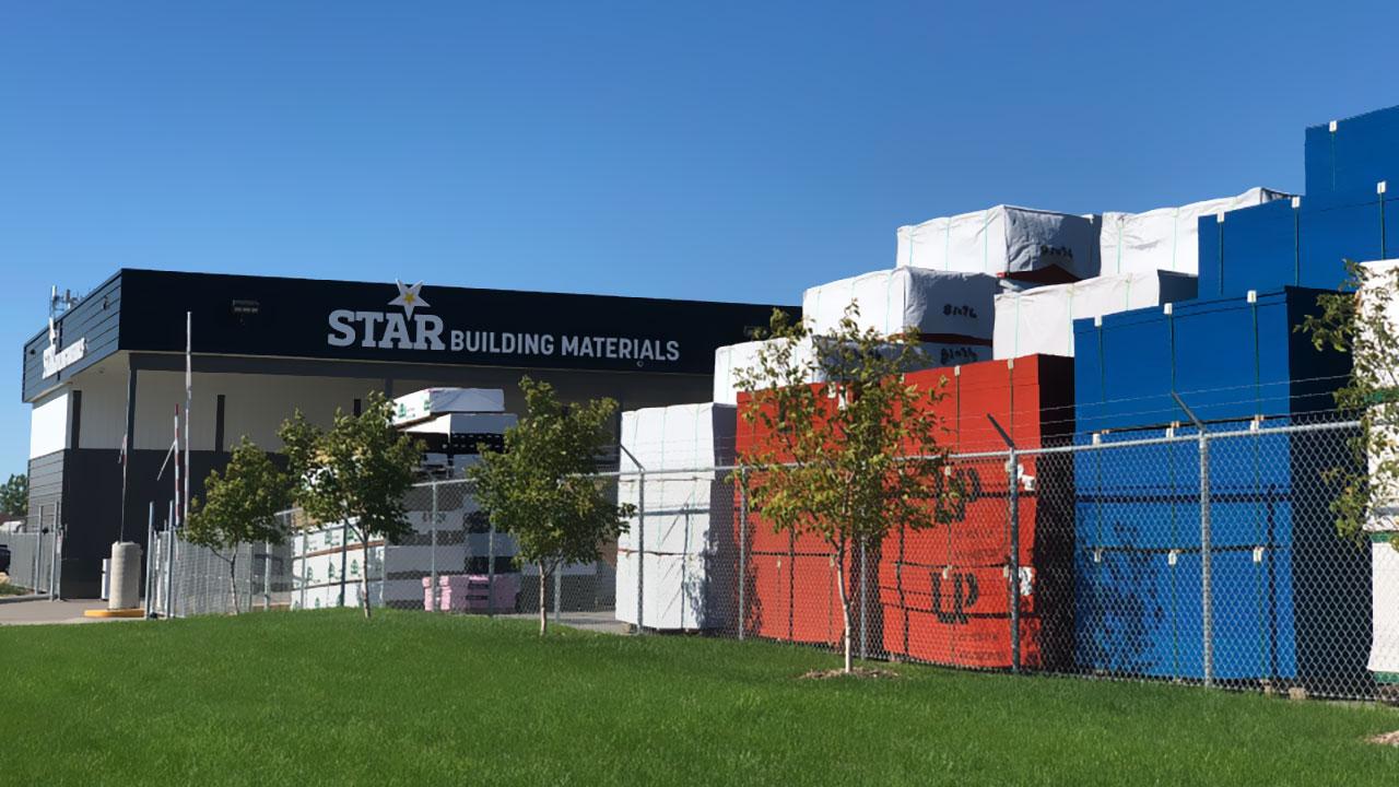 The yard at Star Building Materials in Winnipeg.
