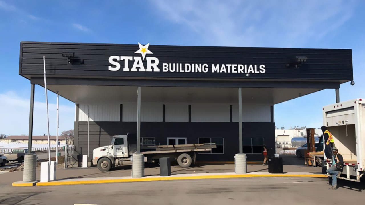 Loading zone at Star Building Materials in Winnipeg.