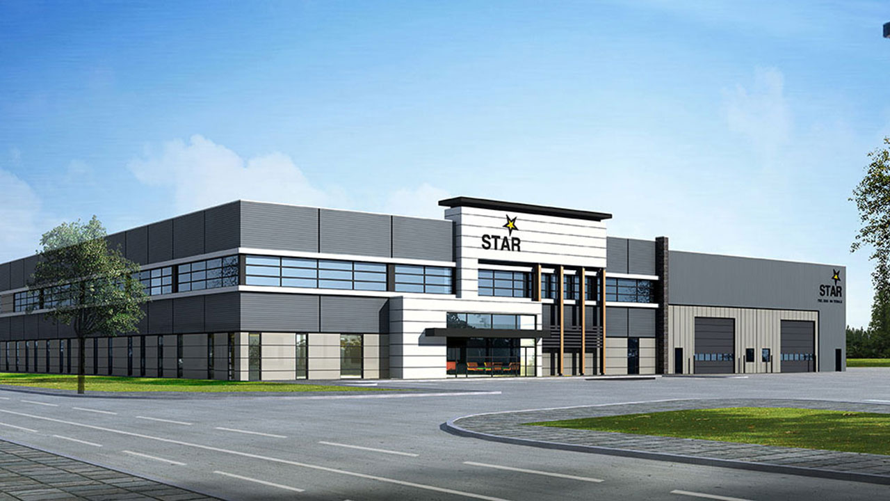 Rendering of new office for Star Building Materials