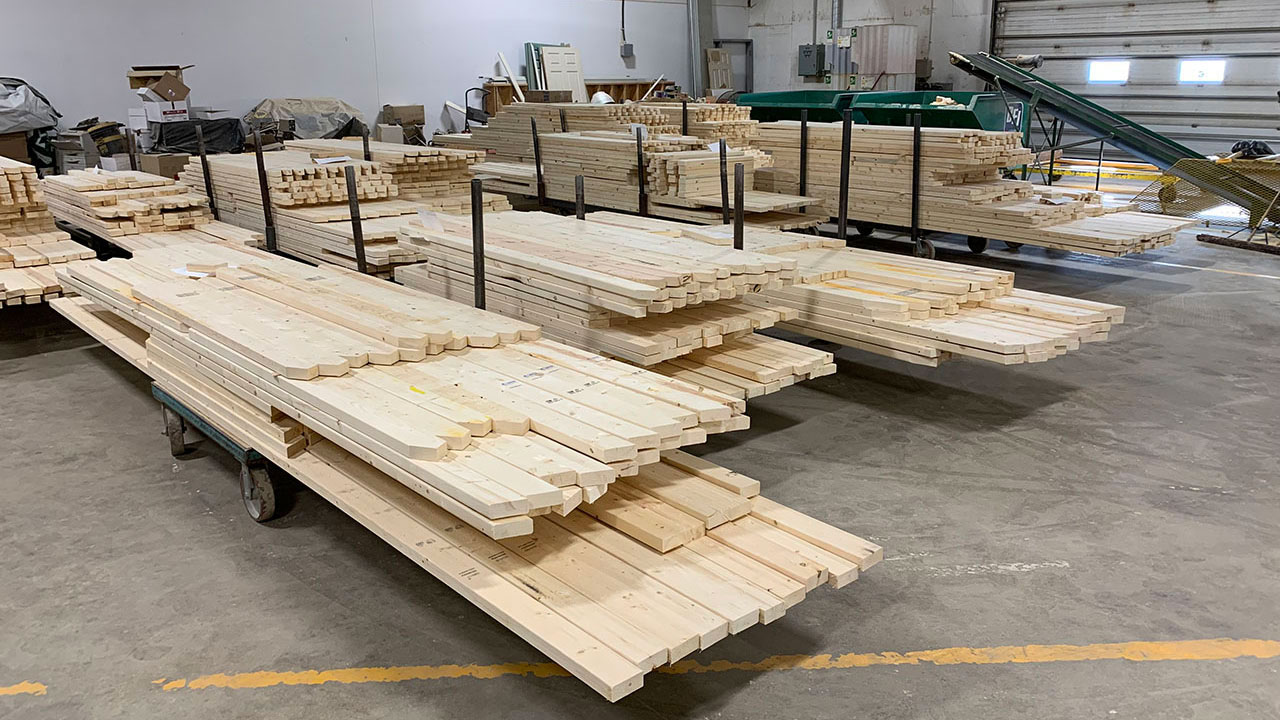 Materials sit in the Star Truss shop ready to be built into trusses.