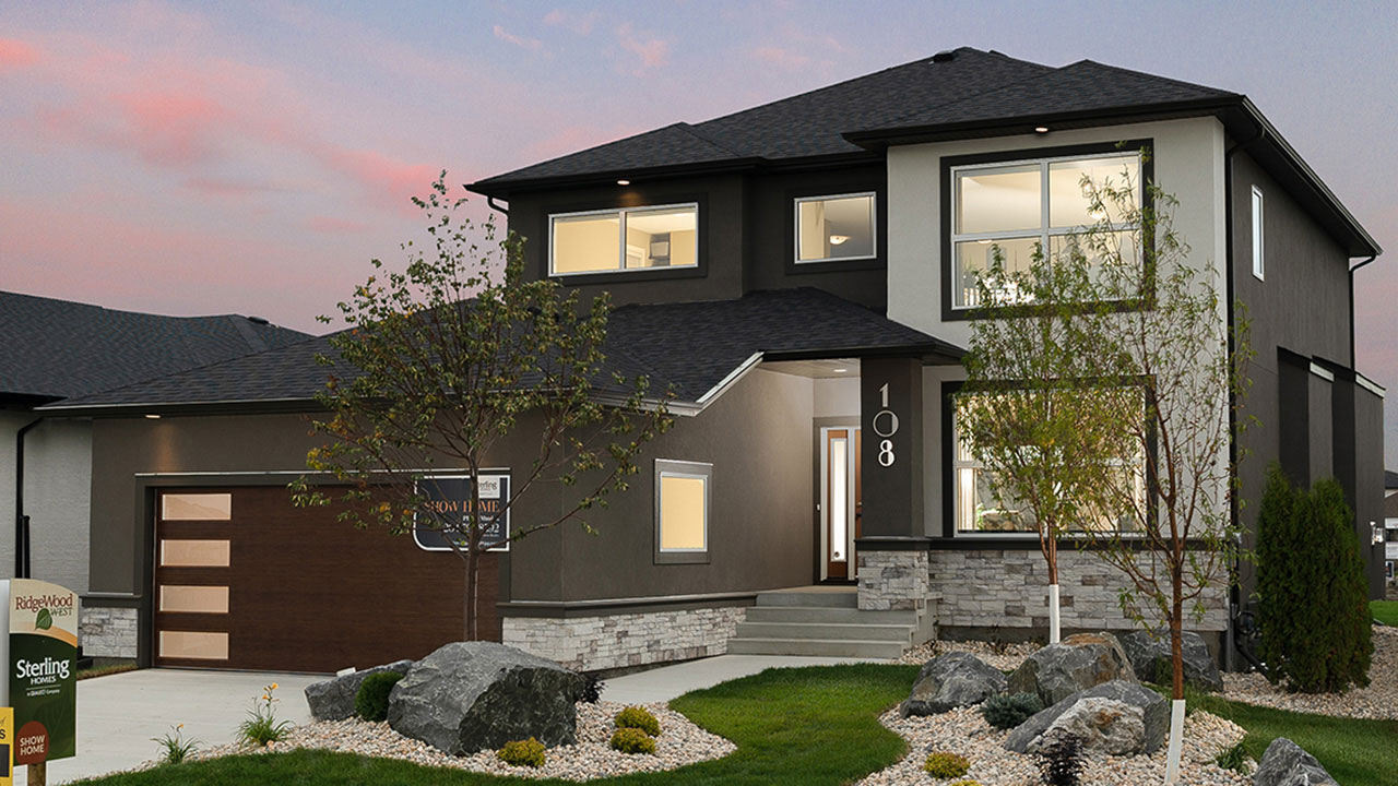 Exterior rendering of a Sterling Homes Winnipeg model