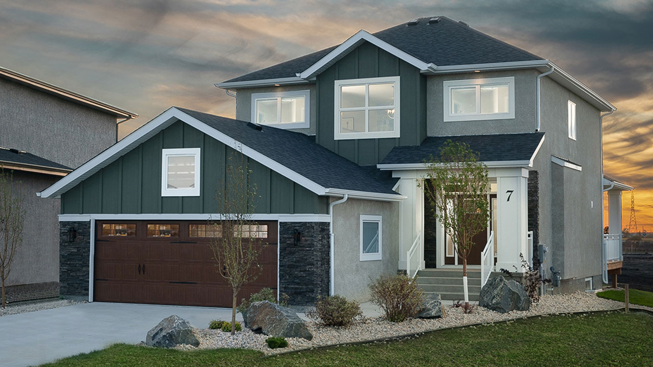 Rendering of a single family model built by Sterling Homes in Winnipeg.
