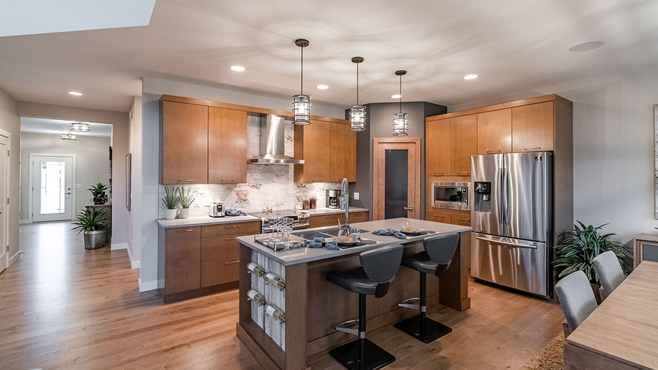 This Sterling Home in Winnipeg features an open concept design.