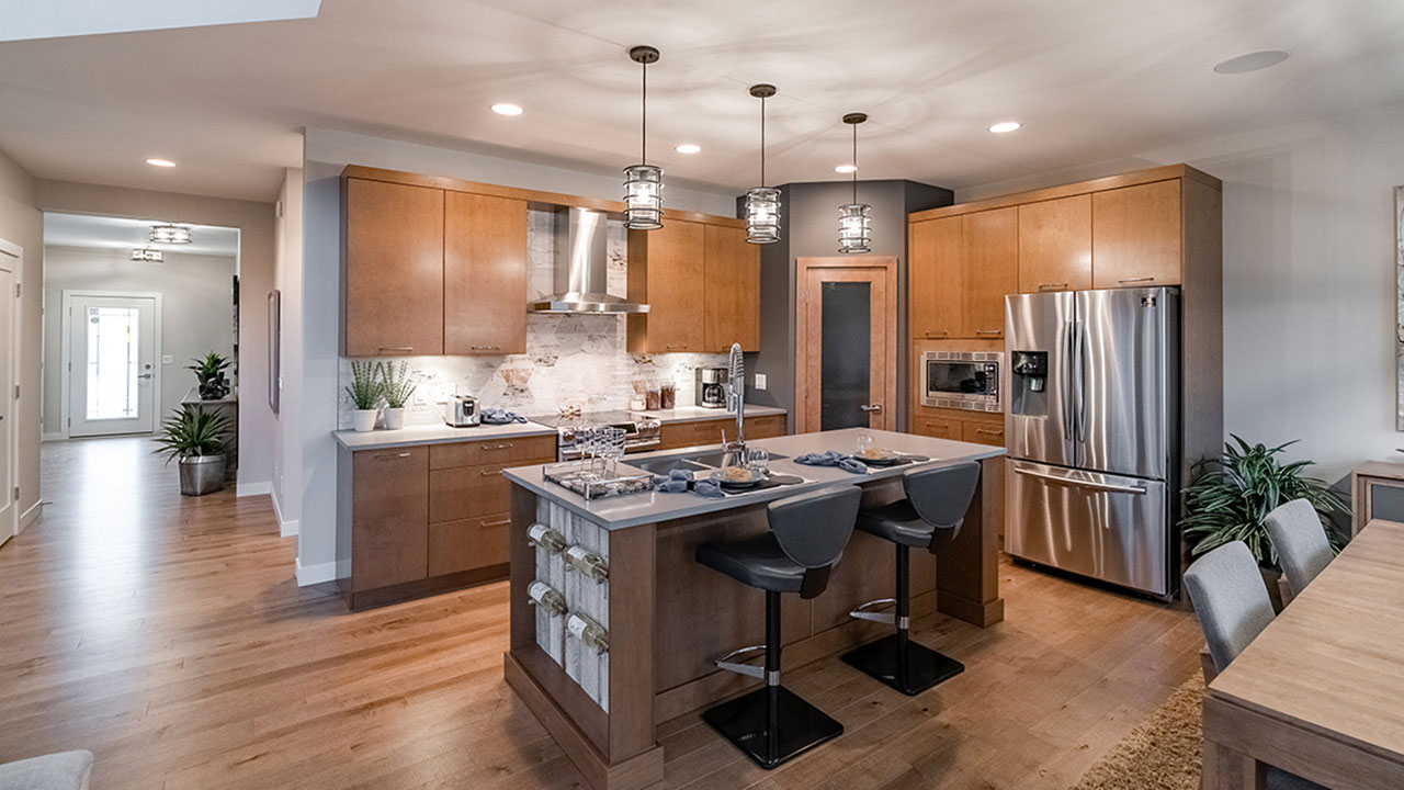 A beautiful kitchen built in a Sterling Home in Winnipeg.