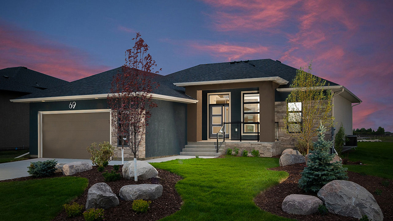 A Rendering of a Sterling Homes bungalow in Winnipeg.