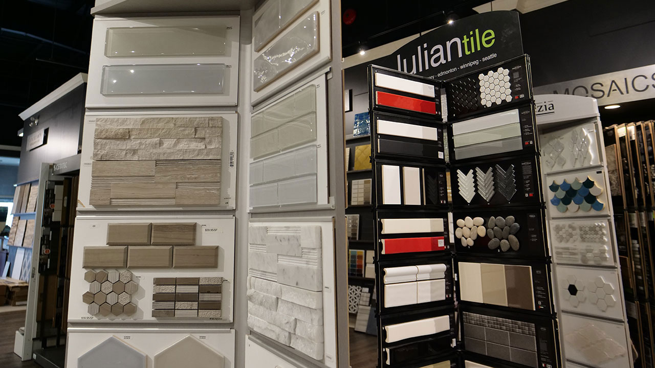 Homebuyers can choose from a great select of tile.