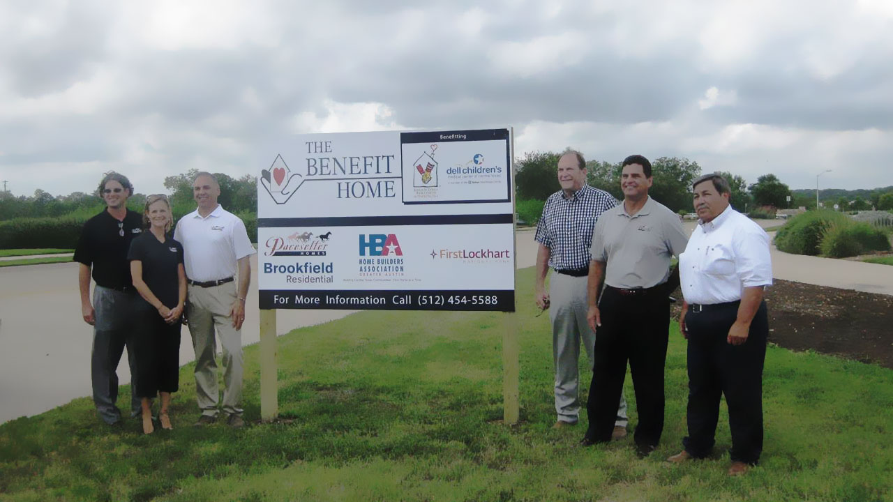 Pacesetter Homes Austin supports The Benefit Home for Dell Children's Medical Center of Central Texas