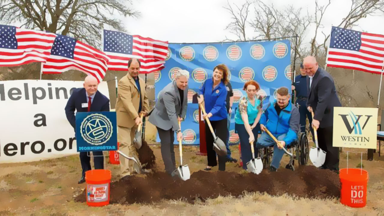 Helping a Hero sod turning event breaking ground