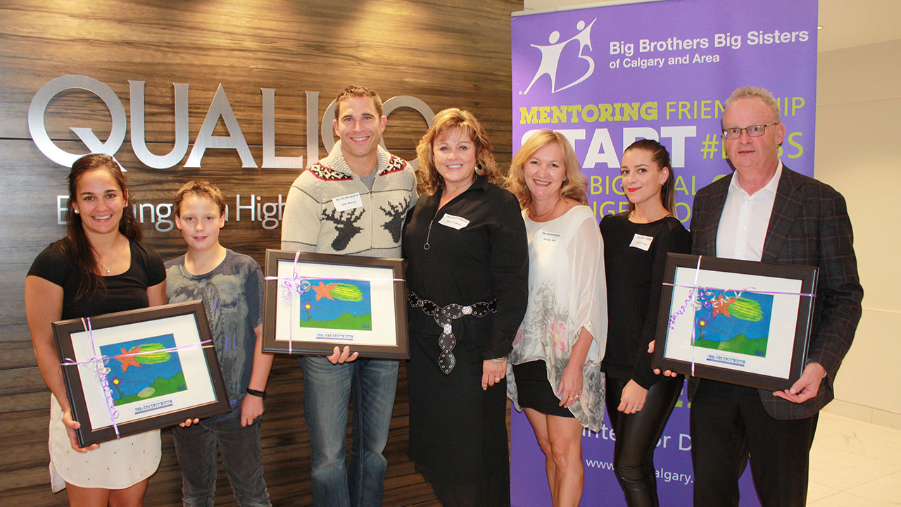 Big Brother Big Sisters All-Star Campaign with Qualico in Calgary