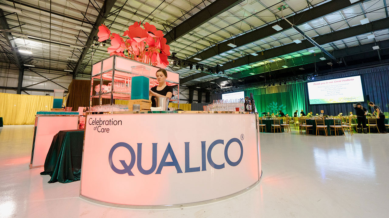 Qualico sponsors the reception for Surrey Hospital Foundation's Celebration of Care Gala