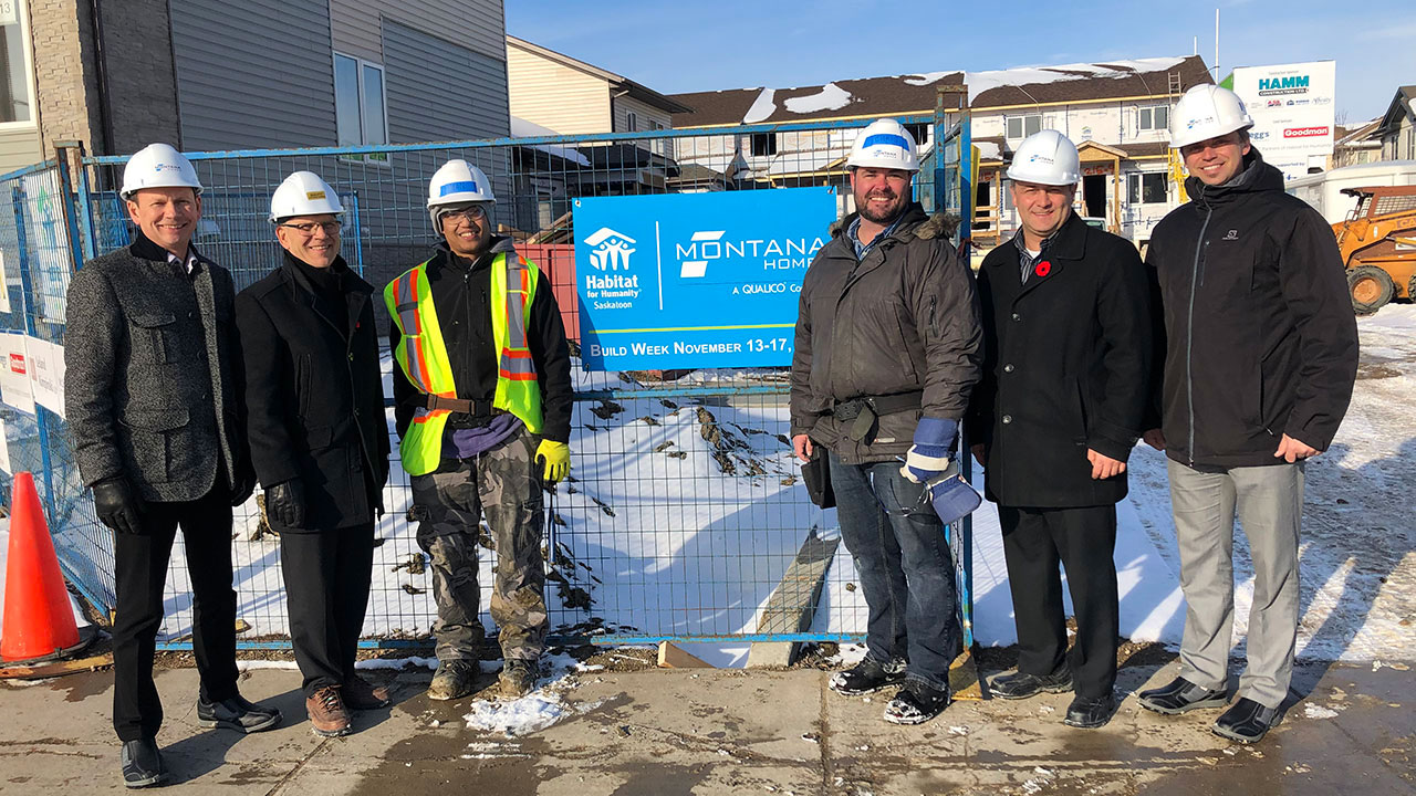 Montana Homes employees and business partners volunteer with Habitat for Humanity Saskatoon