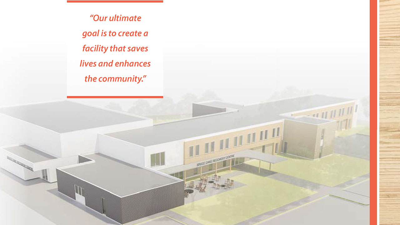 Bruce Oake Recovery Centre Rendering