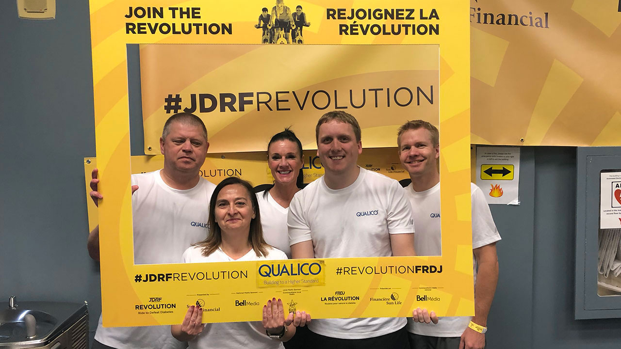 Qualico hops on the bike in support of the JDRF Revolution Ride