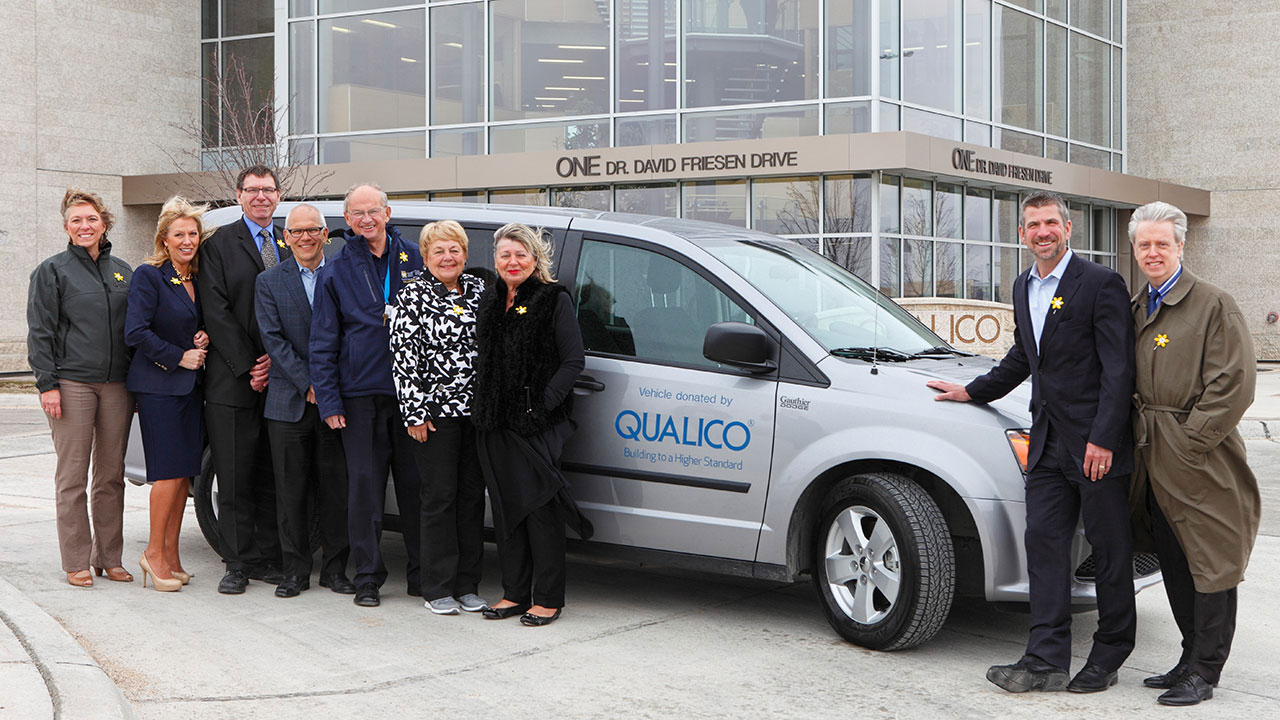 Qualico donated funds for the Canadian Cancer Society Manitoba