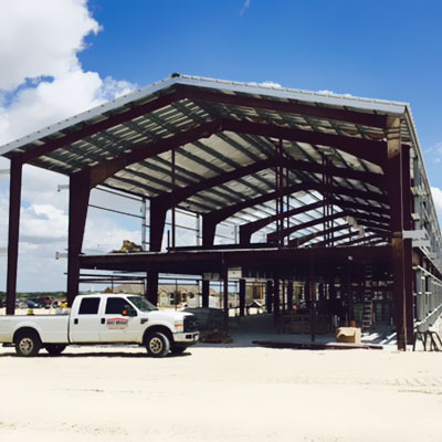 Construction of Qualico's Techridge office building in Austin.