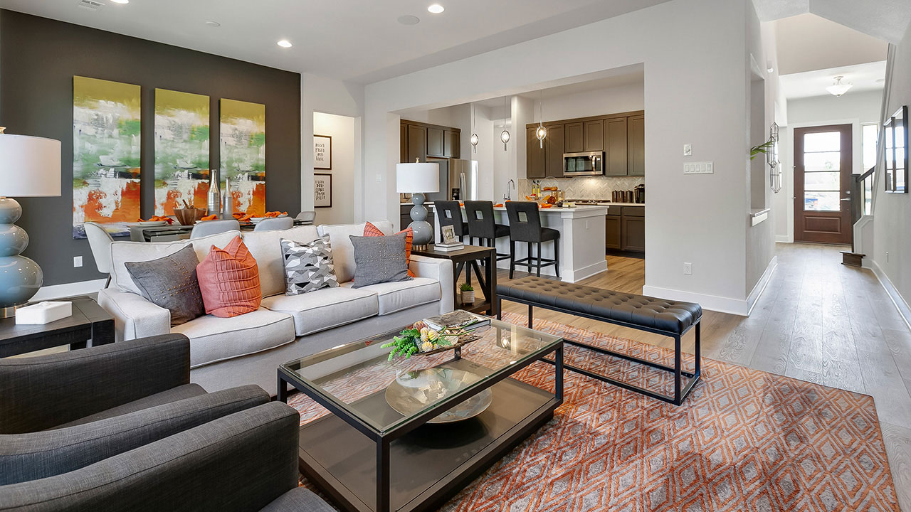 Pacesetter Homes Austin - living room
