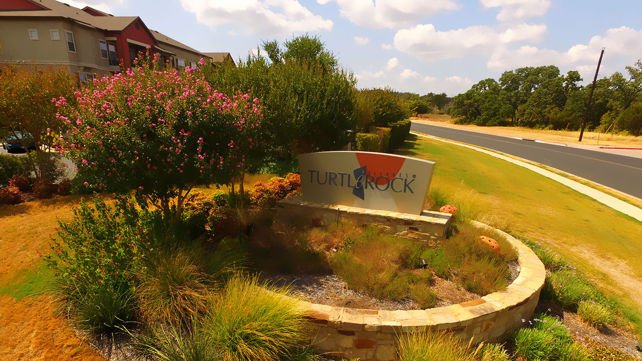 The entrance to Turtle Rock, a US multi-family project