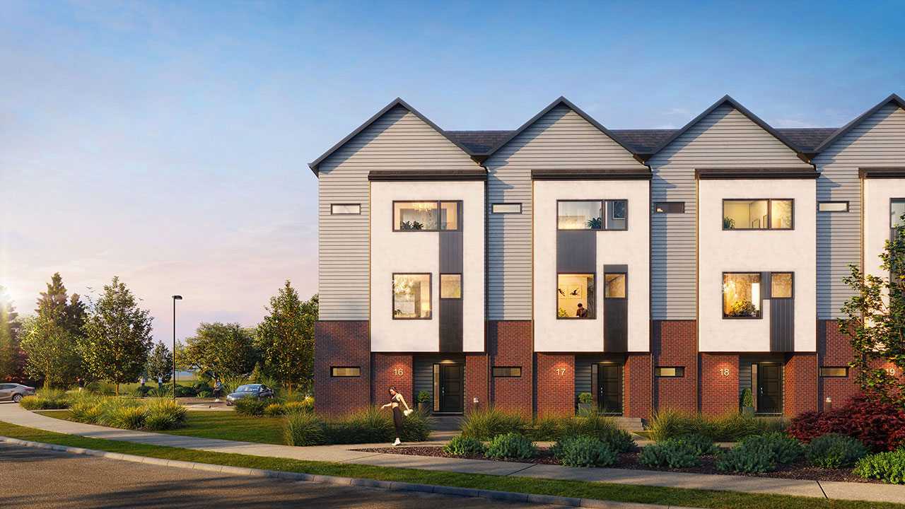 Townhome rendering in Harmony