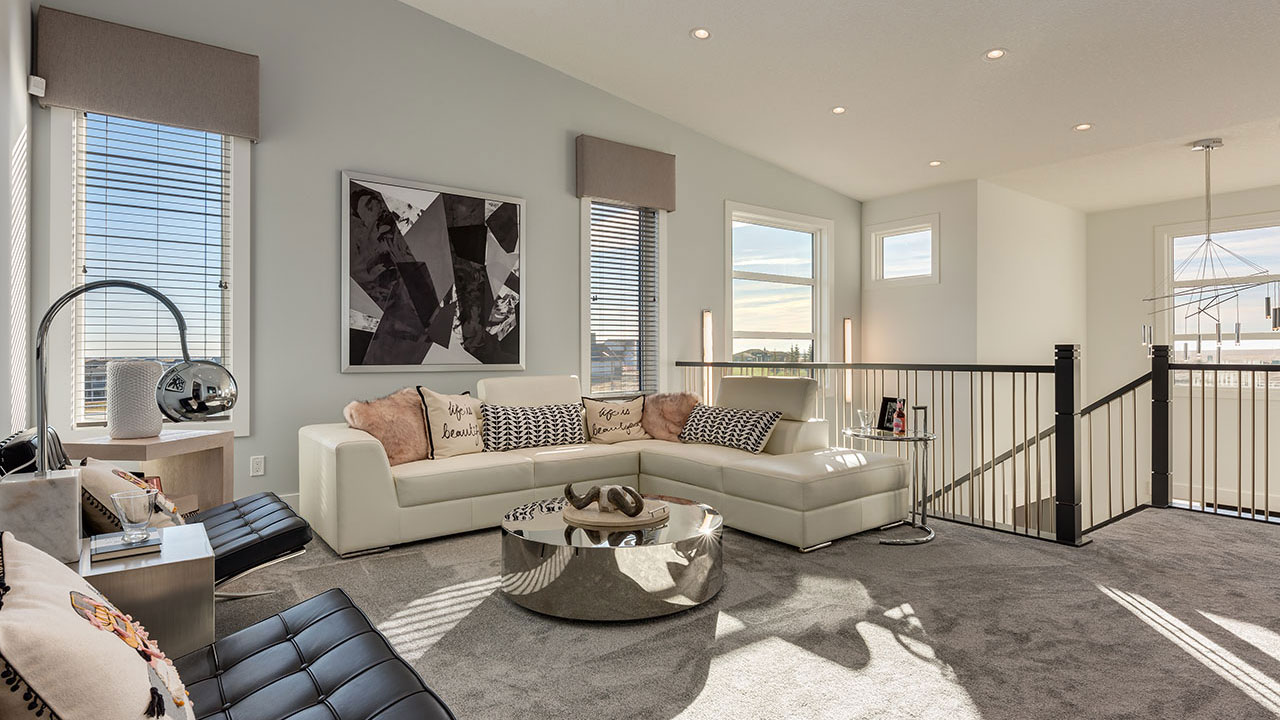 The great room in the Pierce model, built by Pacesetter Homes in Calgary.