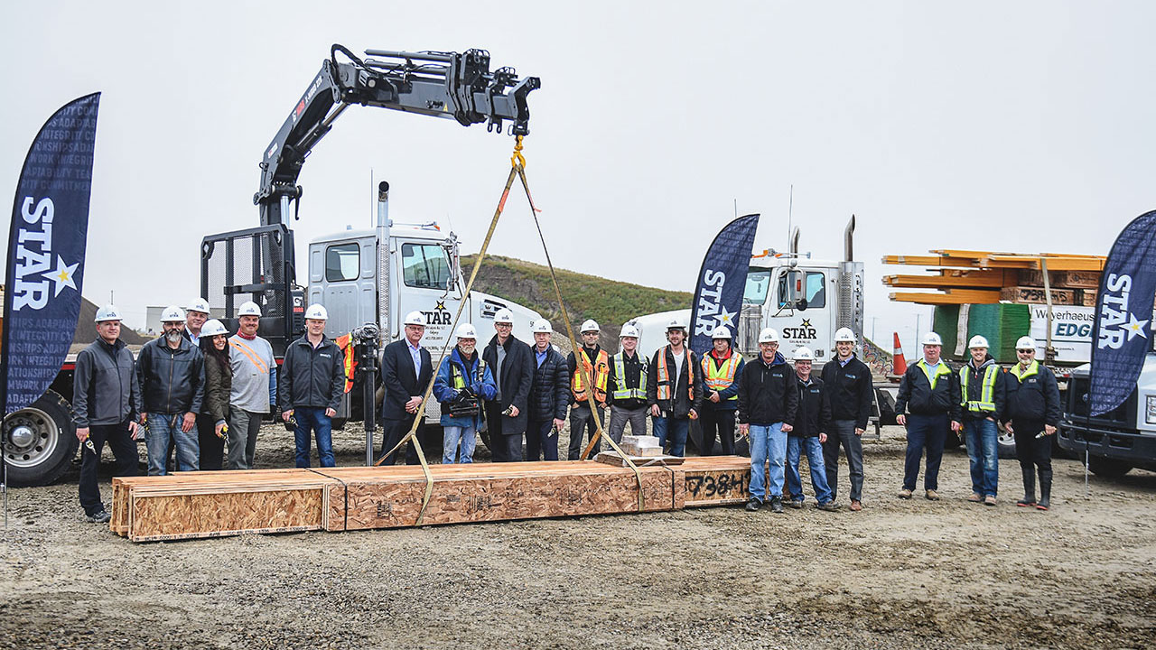 New distribution yard at Star Building Materials in Calgary.