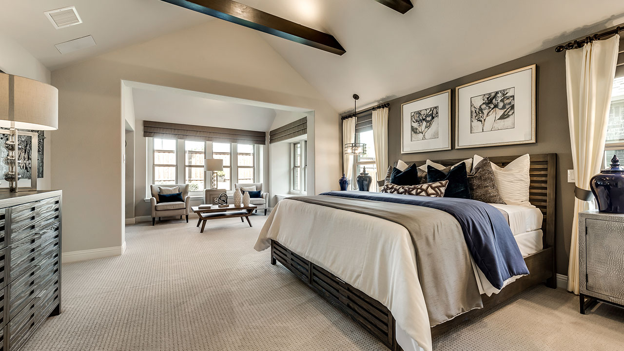 Pacesetter Homes Dallas-Fort Worth's Model Master Bedroom