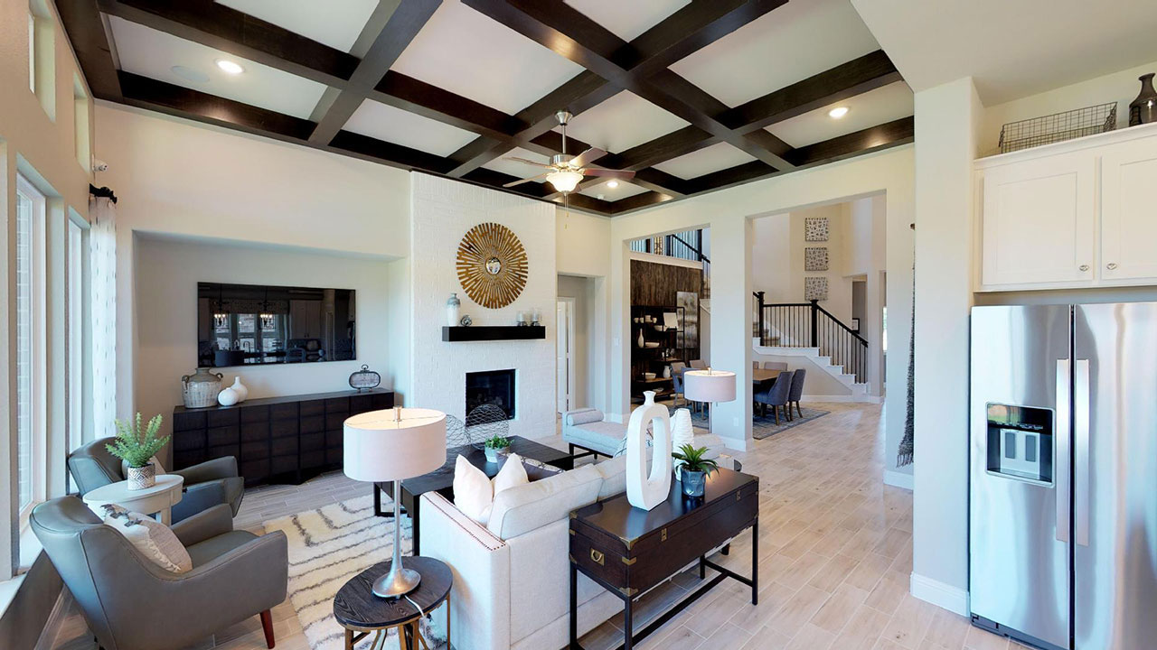 Living room of a Pacesetter home in Dallas