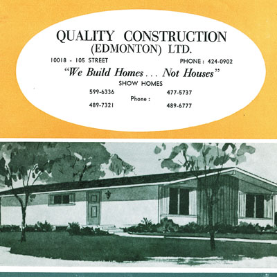 Brochure for Quality Construction Edmonton