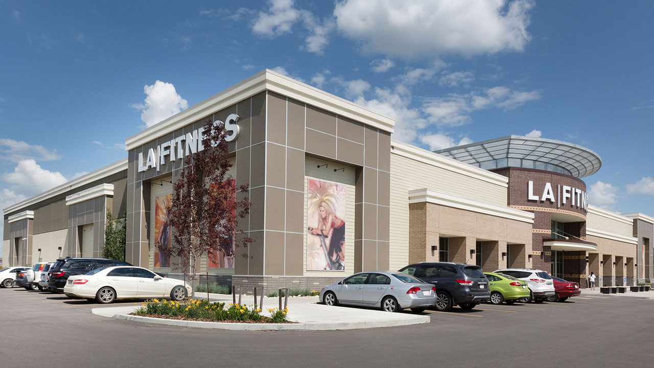 La fitness at Newcastle, a community shopping centre in northwest Edmonton.