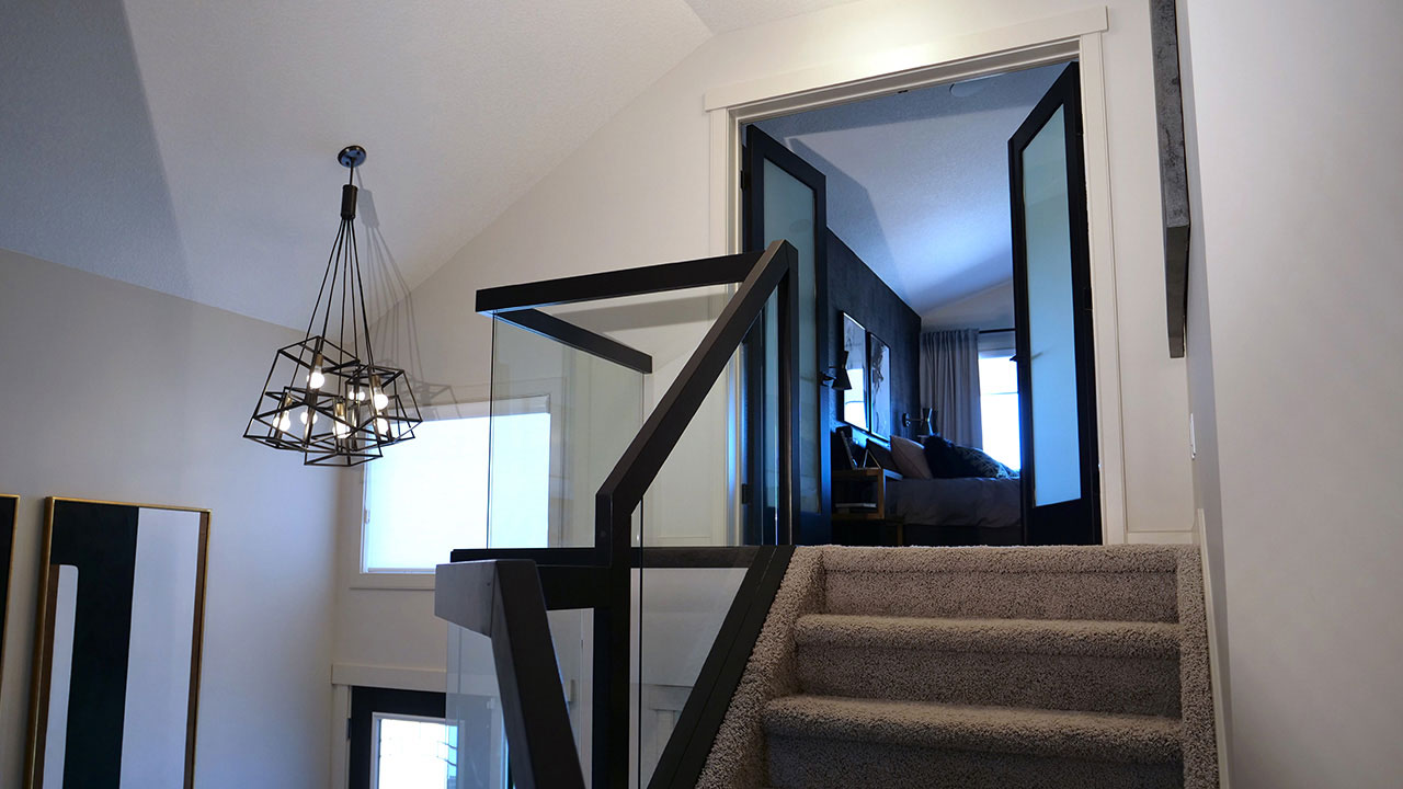 Stairwell in the Jayde model in College Woods.