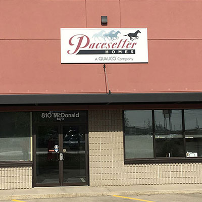 Outside the offices of Pacesetter Homes Regina.