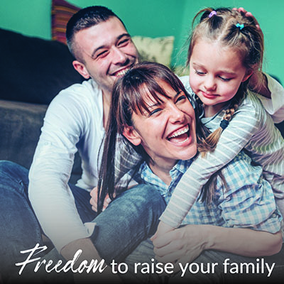 Pacesetter Homes Regina Freedom to raise your family billboard
