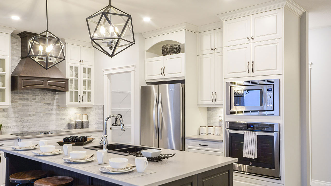 Kitchen in the Newcastle model built by Pacesetter Homes in Regina.