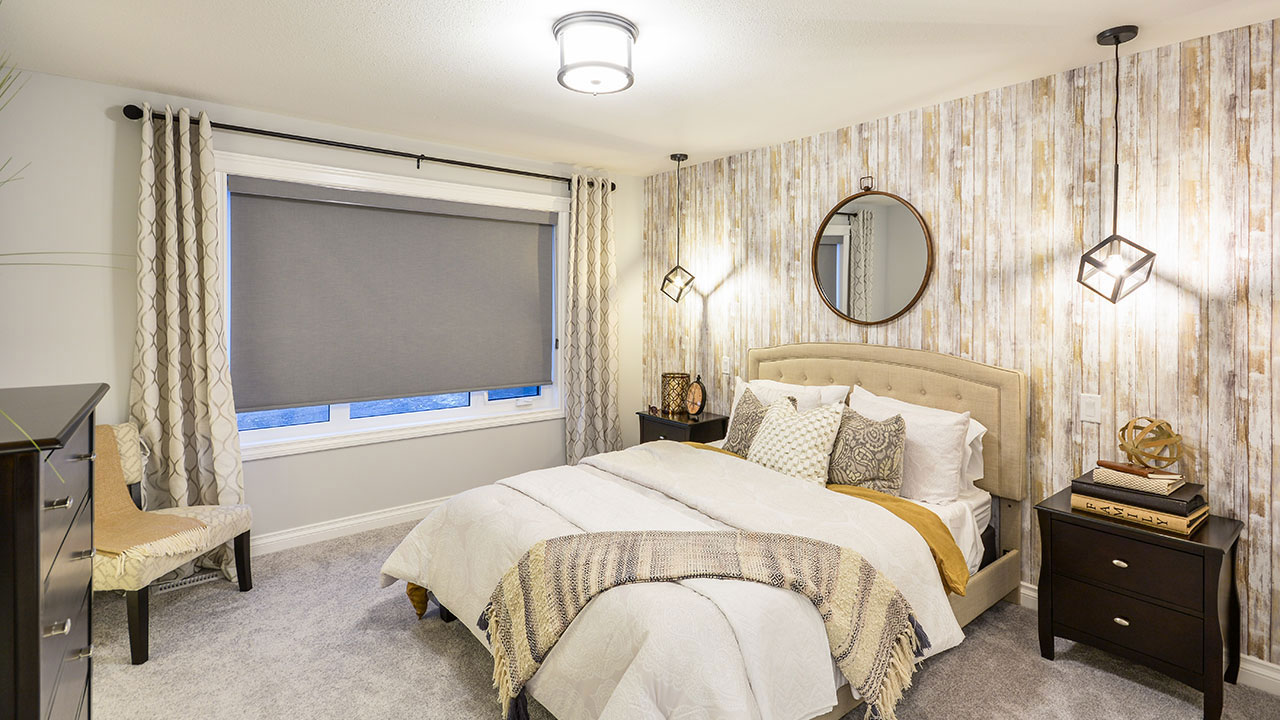 Bedroom of a home built by Pacesetter Homes Regina