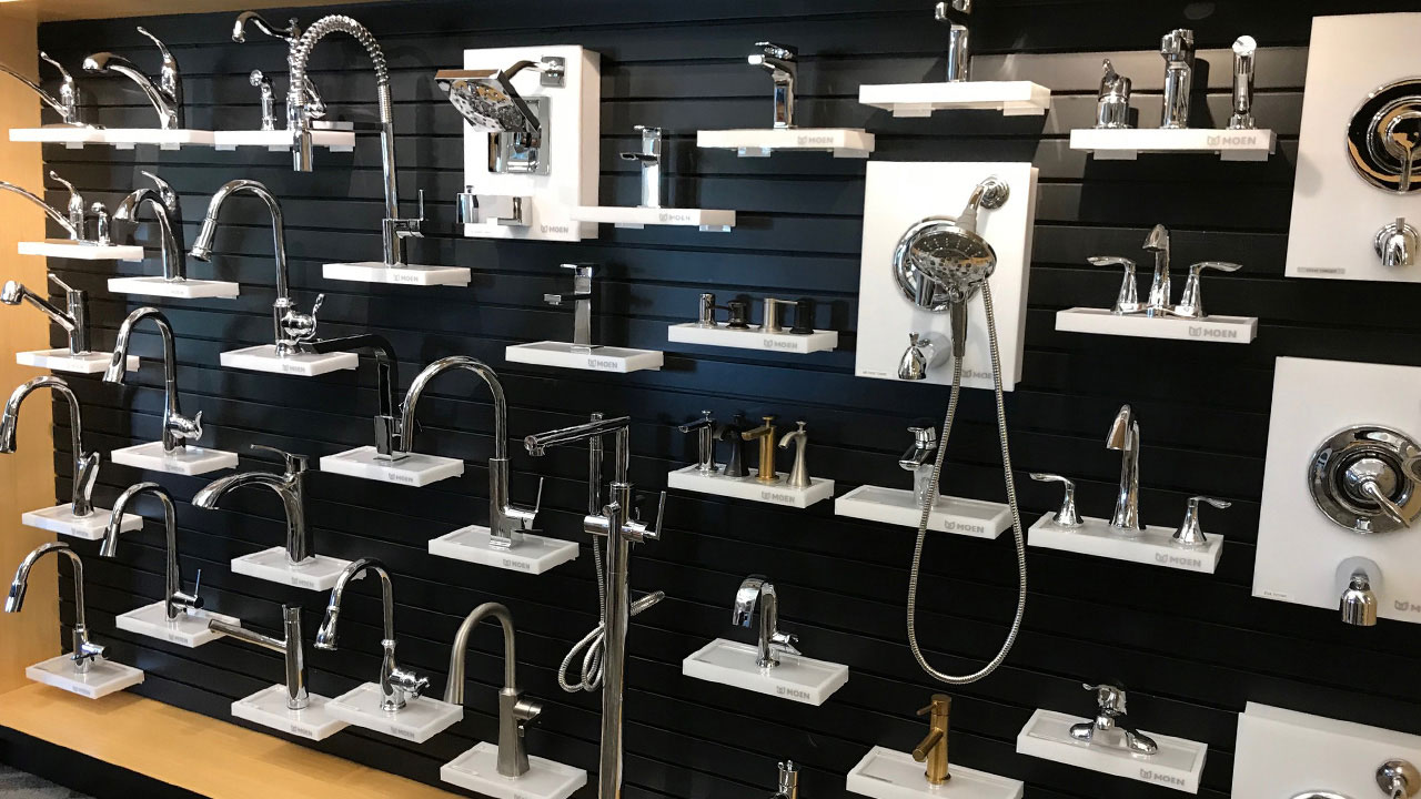Plumbing fixtures in DesignQ in Winnipeg.