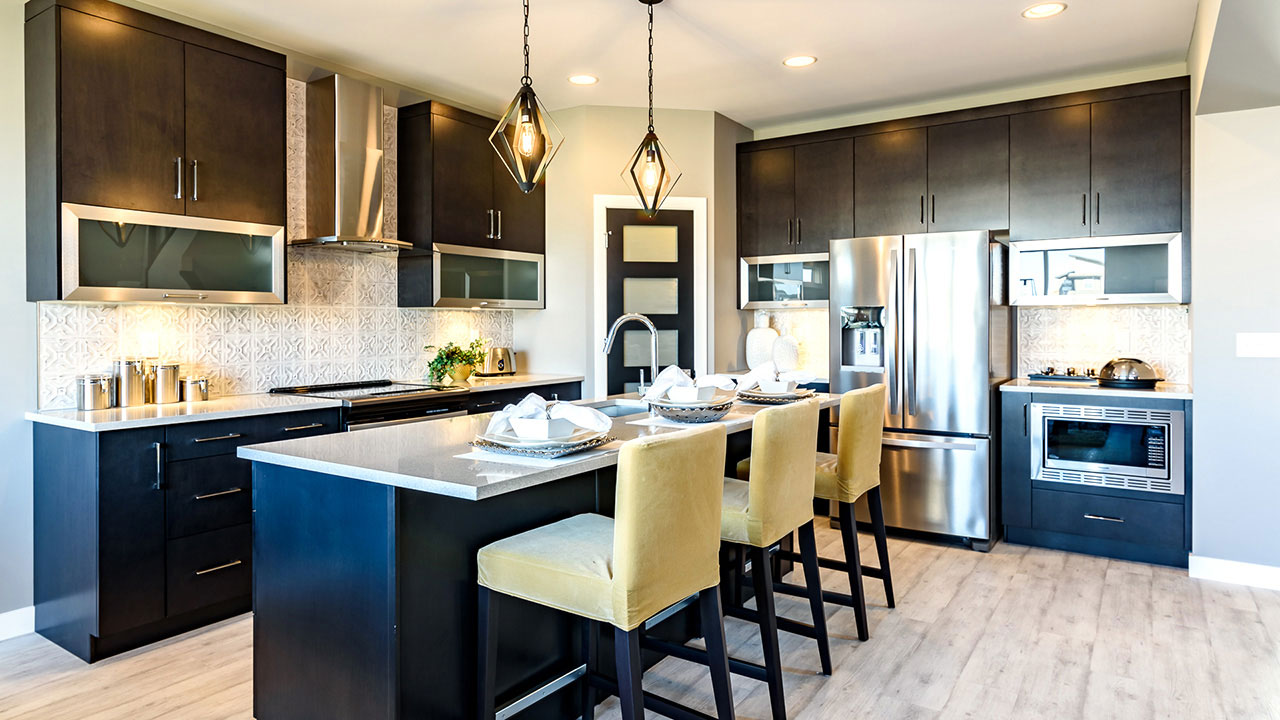 A kitchen built in a Broadview Home in Winnipeg.