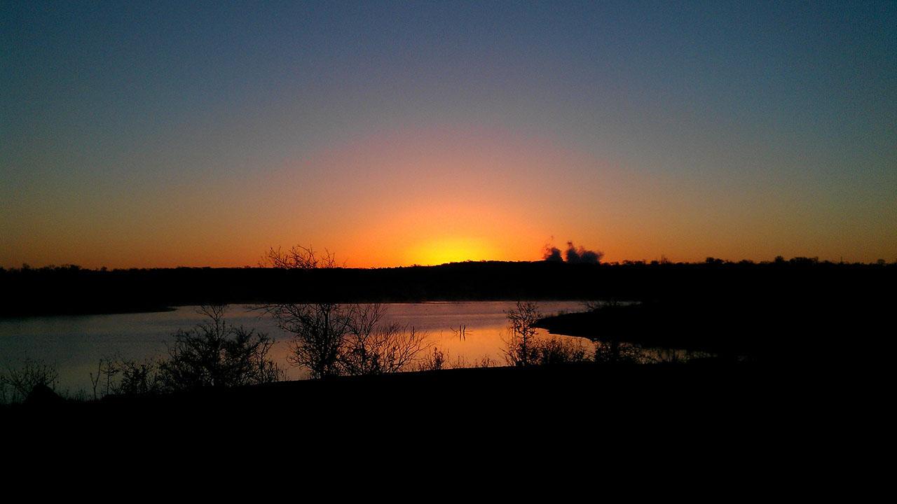 Sun Chase at sunset